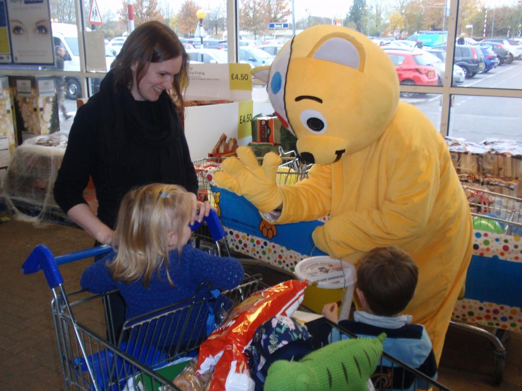 PUDSEY WENT TO TESCO -