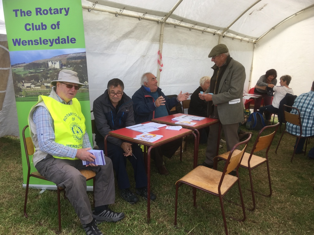 Blood Pressure Screening at Wensleydale Show 2018 - Waiting for more custom early on