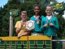 Medina Primary School Speaking Competition - 2017 - Yrs 5/6  LT to RT Lenny Horrell, Jeanne Kamakoue and Tia Brooks.