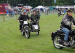 Abergavenny Steam Rally 2012 - Parade of motorcycles in the arena