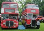Abergavenny Steam Rally 2012 - Two London buses