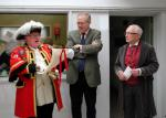 Reading Rooms 150 Year Anniversary - Reading the scroll - Town Crier MP John Barron & President Keith Wood