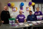 Stroke Awareness Day - Strathearn Community Campus - Debbie with fellow Rotarians
