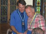 PRESIDENT EDDIE'S HANDOVER - Paul Harris Fellowship number 1 to Andy Davies