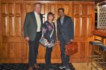 Hospital Consultant from India visits Blackpool South Rotary Club - Our guests Barry and Colette Birch with Kannane.