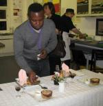 Young chef of the year, 8th November 2012 - Nana Akuffo, the judge, tasted all the entries
