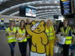 Children in Need Collection Heathrow 13th Nov 2015 - Terminal 5