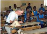 Helping communities in Senegal 2015 - In a lesson