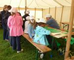 Jun 2013 Kids Out Day at Wimpole Hall and Farm - 11 Queueing up for kite making