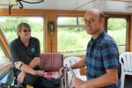 Willow Trust 2017 - John taking charge of driving the boat