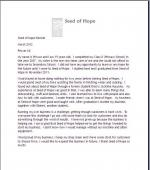 Seeds of Hope, Africa - 201203SeedofHopeLetter