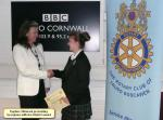 Rotary Young Writer 2012-2013 - Daphne Skinnard presents the District award to Georgiana