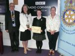 Rotary Young Writer 2012-2013 - President Julian and Pamela Herbert with Daphne and Georgiana