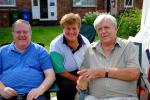 About our Club - President's garden party - Phil, Sue and Alan