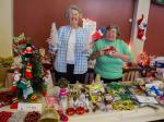 Christmas Fair  2014 - Club members at the Club stall full of decorations all made by our members.