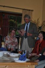 Literary evening at Ffrydd House Knighton - David and Trixie - one highlight of many!