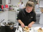 Rotary Young Chef competition 2016  - Charlotte begins the final touches