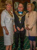 The Rotary Foundation centenary celebration. - President Bernadette and The Mayor and Mayoress of Stockport, Councillor Chris Gordon and Dr Margaret Gordon.