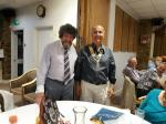 Annual Putting Evening - President Ian Cave and new President Alper Ozturk