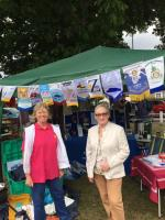 TuT at Hands Fair  - Chatting with Councillor Helen Lee Parsons, who was very pleasant and appeared to show lots of interest in Rotary and our projects and the charities we support
