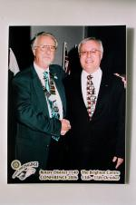 District Conference Oct 2006 - Club President Jan Doskar with District Governor David Whendle