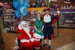 SANTA FUNDRAISING COLLECTIONS - 2018 - A lovely lady from Morrisons with Santa and Barry