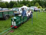 Jun 2013 Kids Out Day at Wimpole Hall and Farm - 20 The train is great fun!
