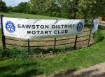 Jun 2013 Kids Out Day at Wimpole Hall and Farm - 2 Sawston District Club banner