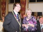 90 Years of Rotary in Kirkcaldy - Interactors presenting flowers to our lady guests