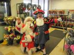 SANTA AND THE MUSICAL SANTA SLEIGH VISITS THE MARTON BOOTHS STORE  - Santa and the Town Crier are good pals.