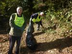 Youth Opportunities - Tony and hugh 'working' at the side of the A590.