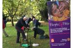 The Big Crocus Plant 2017 is underway! - They were also joined by a Town Councillor who had suffered from polio as a child