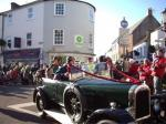 Reindeer Parade Photos -  Classic car with prizewinners