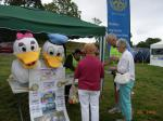 Rotary supports the Summer Festivities at the Carse Country Fair - Andy chief cashier