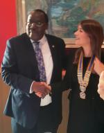 Presidential Hand Over @ the International Maritime Organisation - Anna & Juvenal
