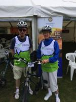 Bike Bath Sponsored Cycle Ride - BB President Val and Treasurer Nigel at Start