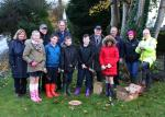 The Rotary Foundation - Ballynure Primary School Pupils, Rotarians and local Residents ready to Dig.