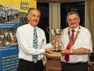 Recent Events - Bay Sports Trophy presented to Keith Wilby by president Roger Cutler