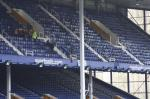 President Elect, Bill Thomas Braves the terrors of Goodison Park. - Bill Thomas Zip Wire 3