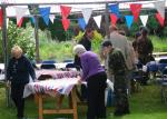 Blues at Burstead - June 2012 - Putting out the tablecloths