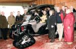 Recent Club Activities - President, Barbara Patterson, hands over a new rescue Buggy to the local Mountain Rescue Team