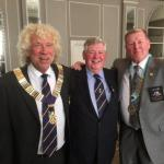 Chris clark's 50th Anniversary in Rotary - President Paul, Chris, DG Fred