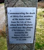 Winter Hill - Plaque unveiled at the crash site 27/2/2008