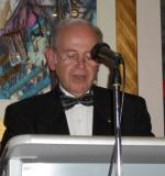 Charter Night 2008 - Our newest member, David Gawne, reads the Objects of Rotary