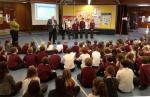 Support for local school library - Crossford Primary School find out about the Rotary Club's generosity