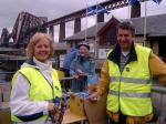Two Capitals Cycle Run 2007 - Doreen and Dave Riddell dish out the refreshments at South Queensferry