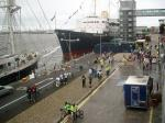 Two Capitals Cycle Run 2007 - The End at the Royal Yacht Britannia