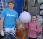 Family Fun Harbour Spectacular 2013 - Candy Floss vendor Liam is pictured with happy customer Isabella from Cardiff