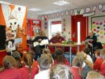 Weston Point School with Murray the Owl - Members of Rotary reading to the youngsters