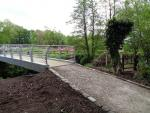 St Catherines Hospice Footbridge Construction - Completed path north side